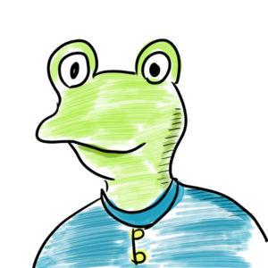 職場の同僚 カエル 動物介護