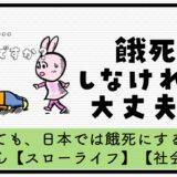 日本 社会保障 充実 餓死 ホームレス